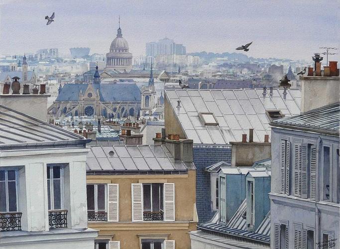 Les toits de Paris après la pluie 0