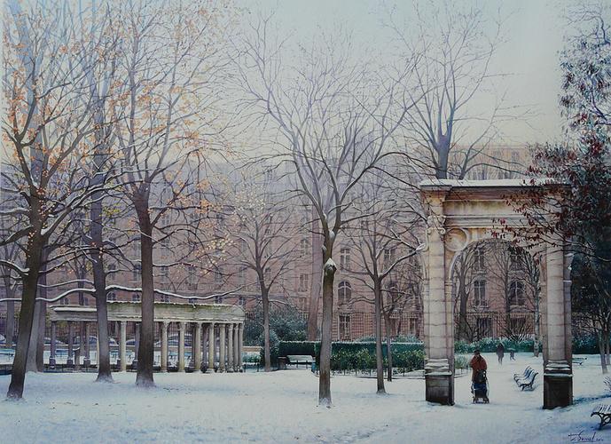 Le parc Monceau sous la neige 0