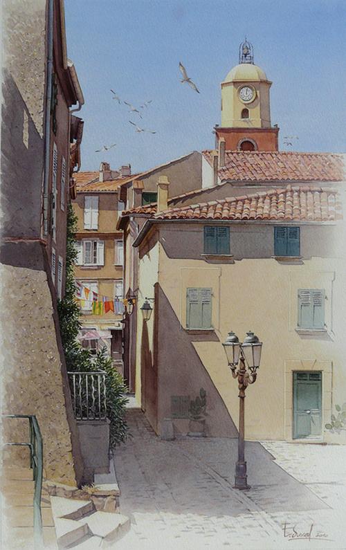 Une ruelle à Saint-Tropez 0