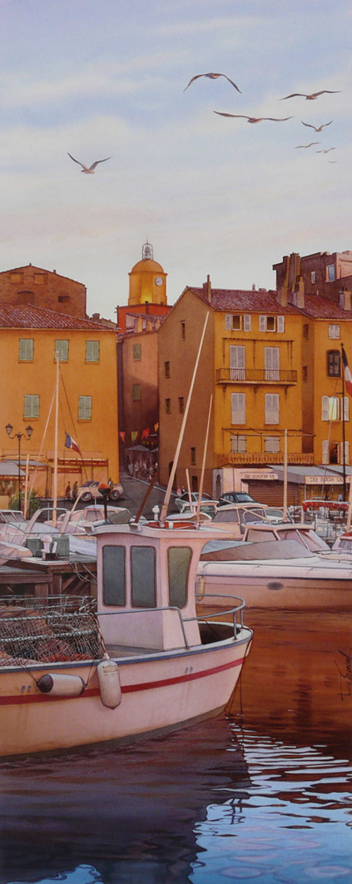 Crépuscule sur le port de Saint-Tropez 0