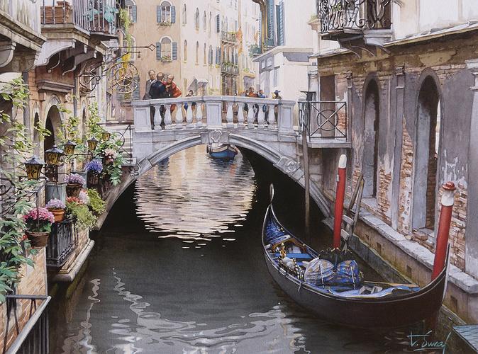 Un petit pont à Venise 0