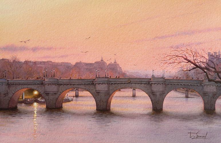 Crépuscule sur le pont Neuf 0