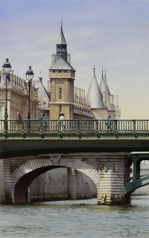 La Tour de l'Horloge et le Pont Notre-Dame 0