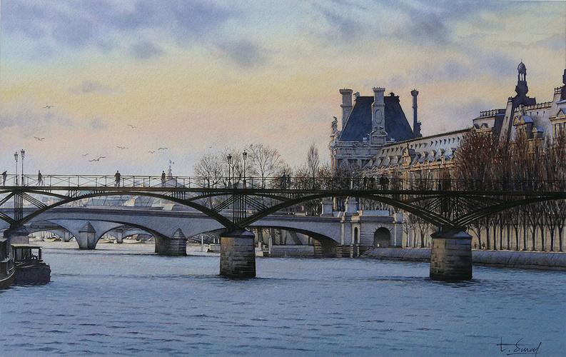 Crépuscule sur le Musée du Louvre 0