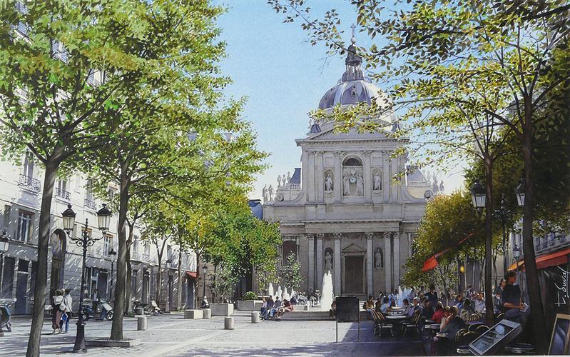La place de la Sorbonne 0