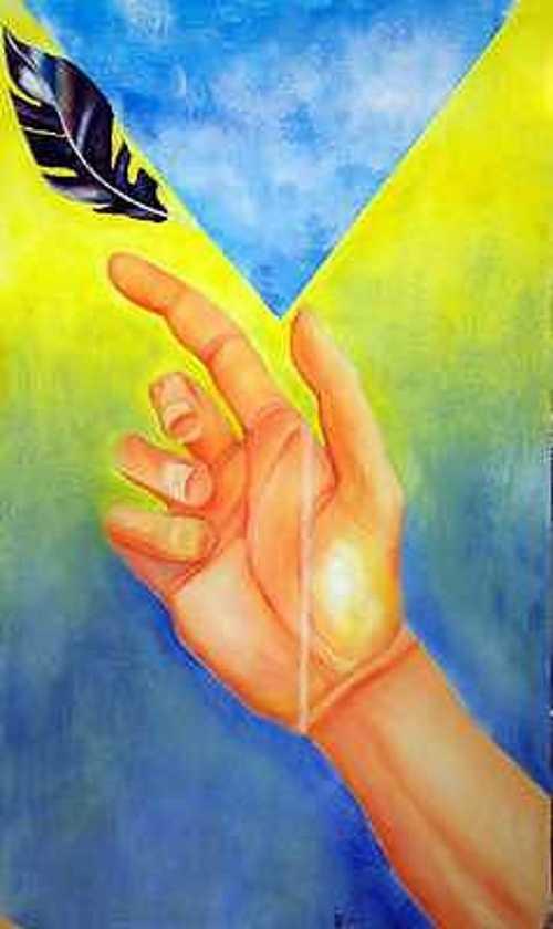 la main levée 0