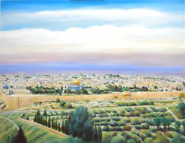 """Jérusalem"" HST. 2003 Format 80 F 0"