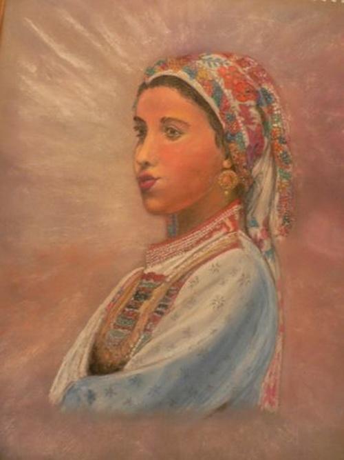 jeune fille grecque en habit de fêtes 0