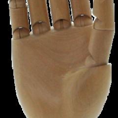 mains articulees en bois