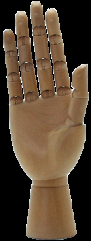 Mains articulées en bois 0