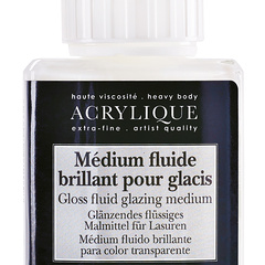 medium fluide brillant pour glacis