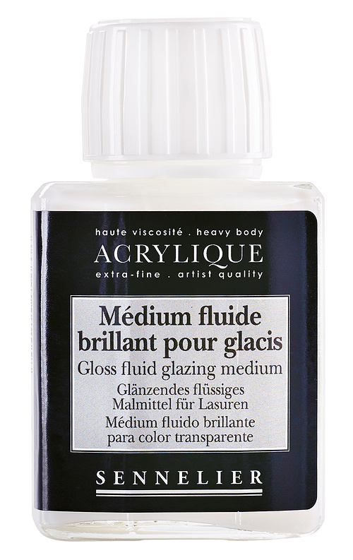 Medium fluide brillant pour glacis 0