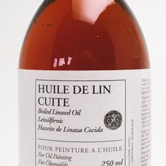 huile de lin cuite