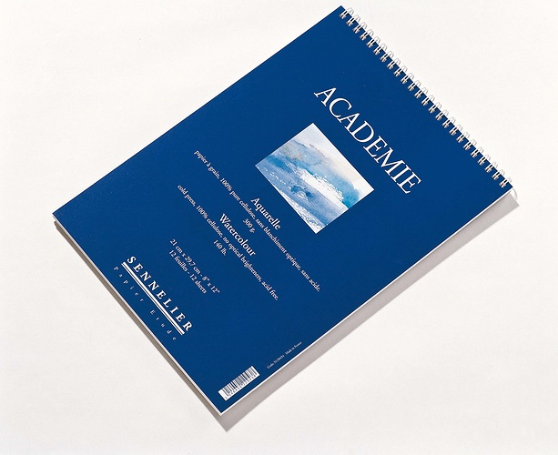 Albums Aquarelle ''''Académie'''' n138454-academie21x297spirale