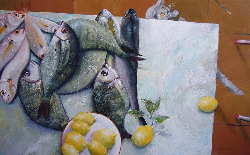 Les poissons et le chat 0