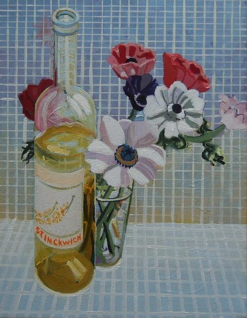 vin blanc et anémones 0