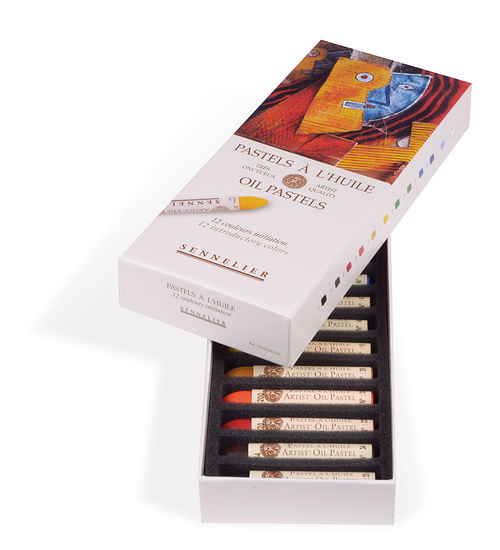 Pastels à l''huile - Boîtes carton n132520-120-ouverte