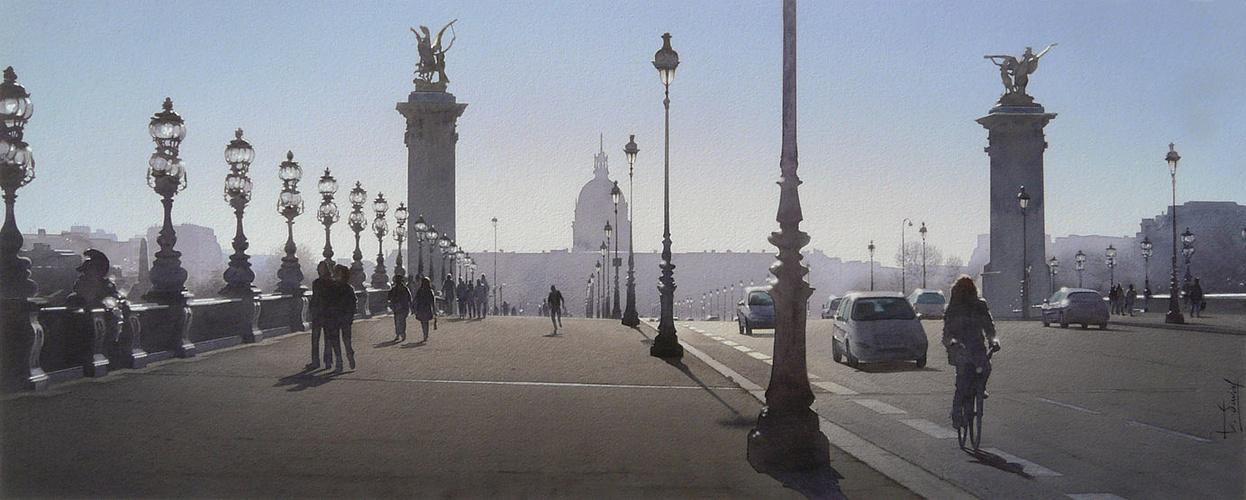Le jogger et le joint de dilatation du Pont Alexandre III 0