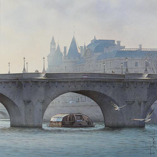 Le bateau Mouche et le Pont Neuf 0