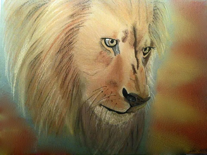 The thinking lion 0