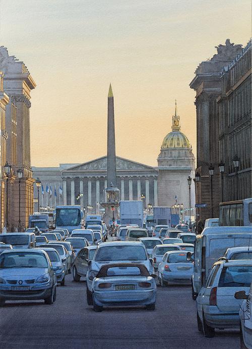Scène d''embouteillage Place de la Concorde 0