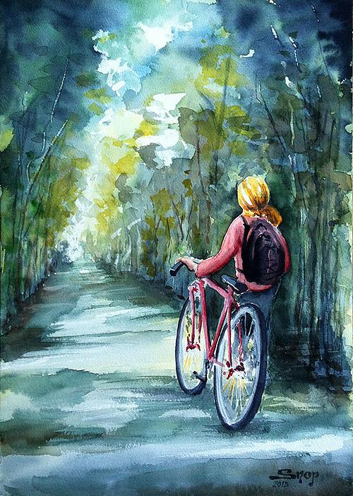 La bicyclette rouge 0