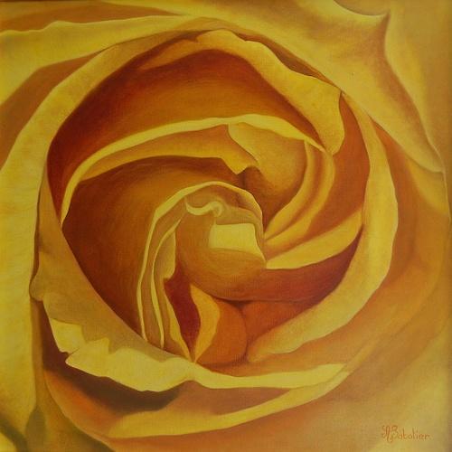 coeur de rose jaune 0
