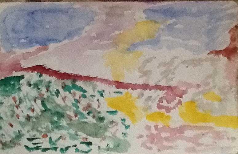 Le Deffend à Jouques (13490) vu du haut du village. image