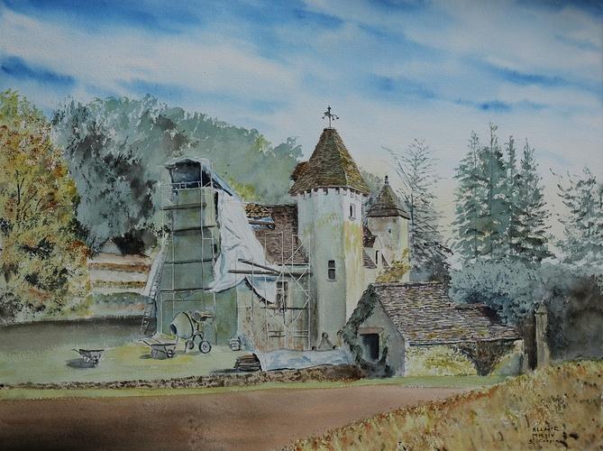 Le château de Lacipierre en travaux 0