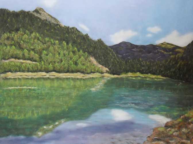 Lac de Montriond lacdemontriondpastelsec70x1msdc18325