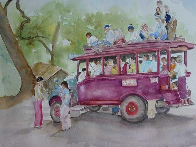 transport local en Birmanie 0