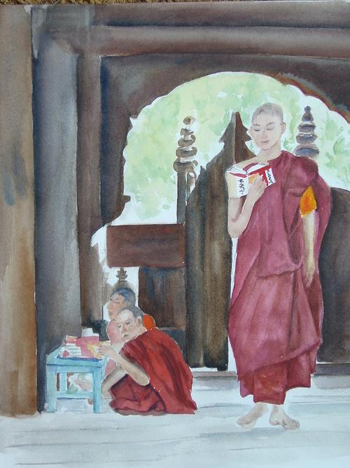 dans un monastère région de Mandalay 0