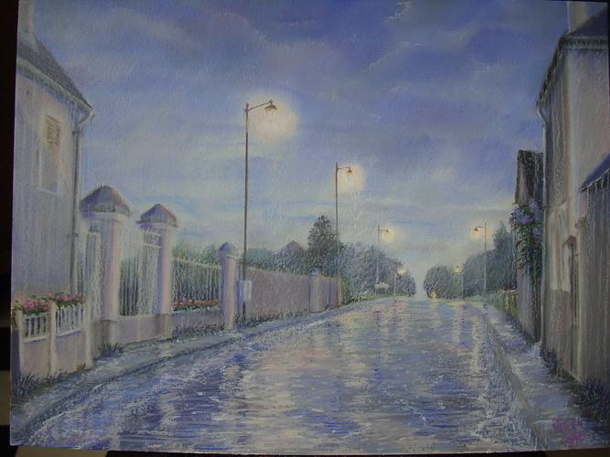 Le matin pluvieux à Prégilbert 0