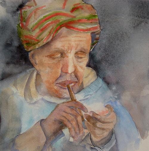 Maroc fumeur de pipe 0
