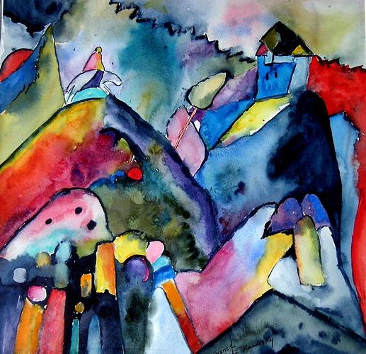 aquarelle d'après W Kandinsky 0