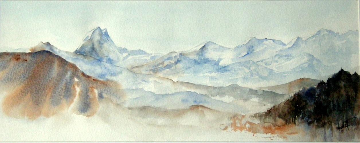 la chaine des Pyrénées et l'Ossau 0