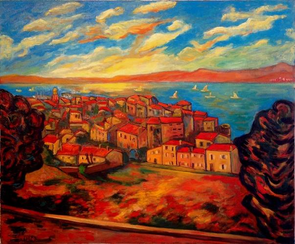 Coucher de soleil sur St Tropez 0