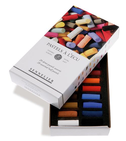 Etuis et boîtes carton de demi-pastels 0