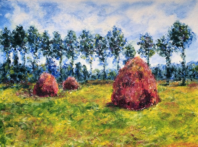 Copy of 'Haystack at Giverny' by Claude Monet 0