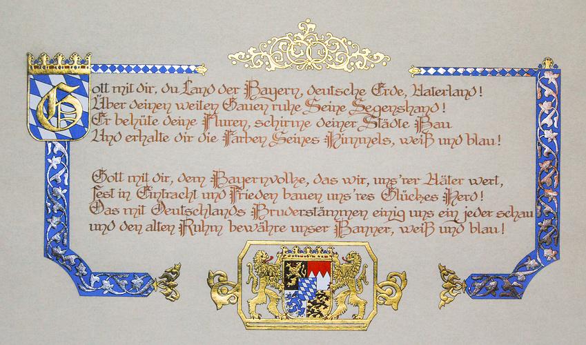Gott Mit Dir, Du Land Der Bayern, Hymne de Bavière. 0