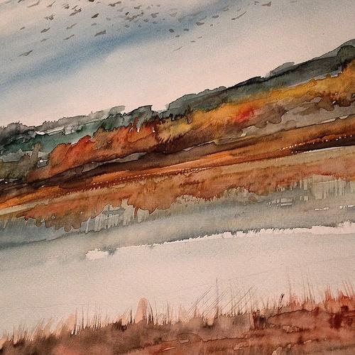 Flock of Birds. October 30*40 cm. Watercolour 0