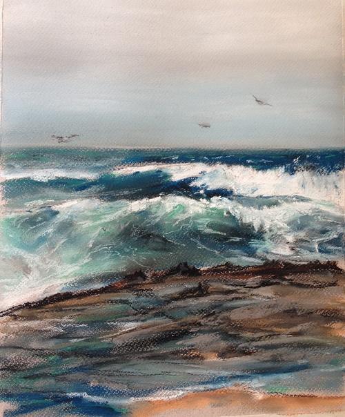 Oceanside. Autumn. 30*40 cm. Sennelier soft pastel 0