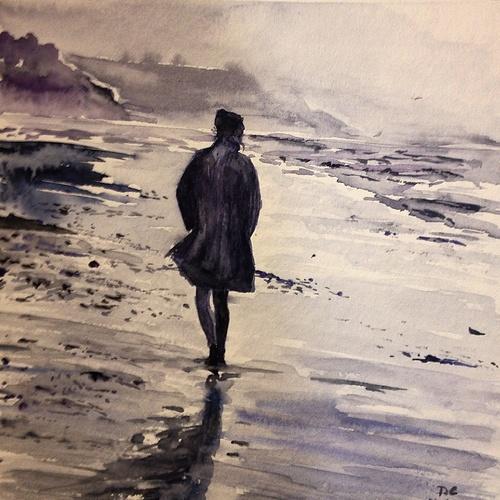Wind. Watercolor 10*10. IG @dcgallery959 0