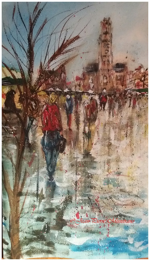 Il pleut sur Bruges 0