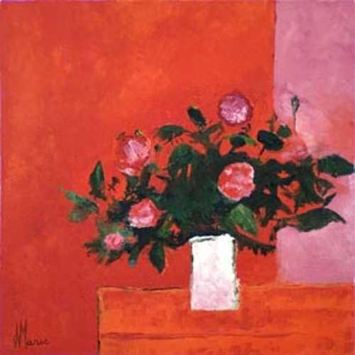 Bouquet au vase blanc 0