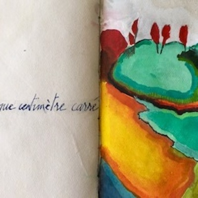 Double page de carnet - d'après Duchamp