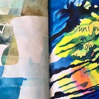 Double page de carnet : d'après Paul Klee ''Sinbad'' ; ''Mandarom''