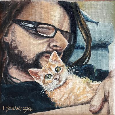 Portrait avec un chat