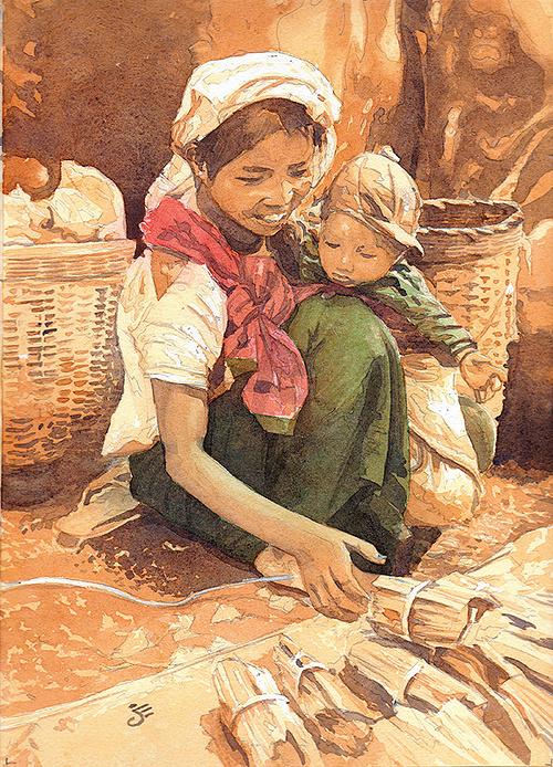 La jeune femme et l'enfant 0