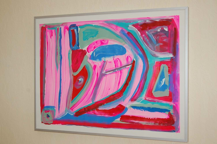abstract opera roze MM 0